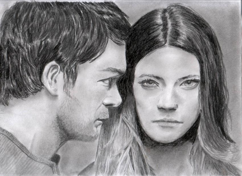 Jennifer Carpenter, Michael C. Hall by Gru